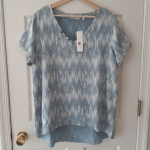 NWT Soft Surroundings Dive In Tunic Top Size Large